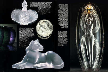 Lalique Society  Magazine, Double Page Spread